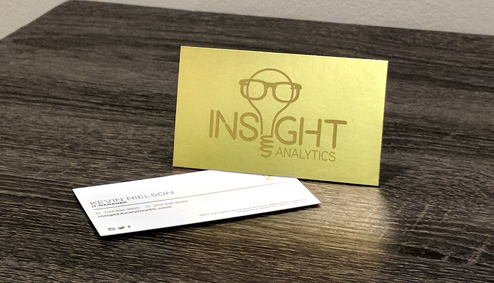 When design a business card, try to incorporate if possible the following; logo, product images, branded colors, and other elements.