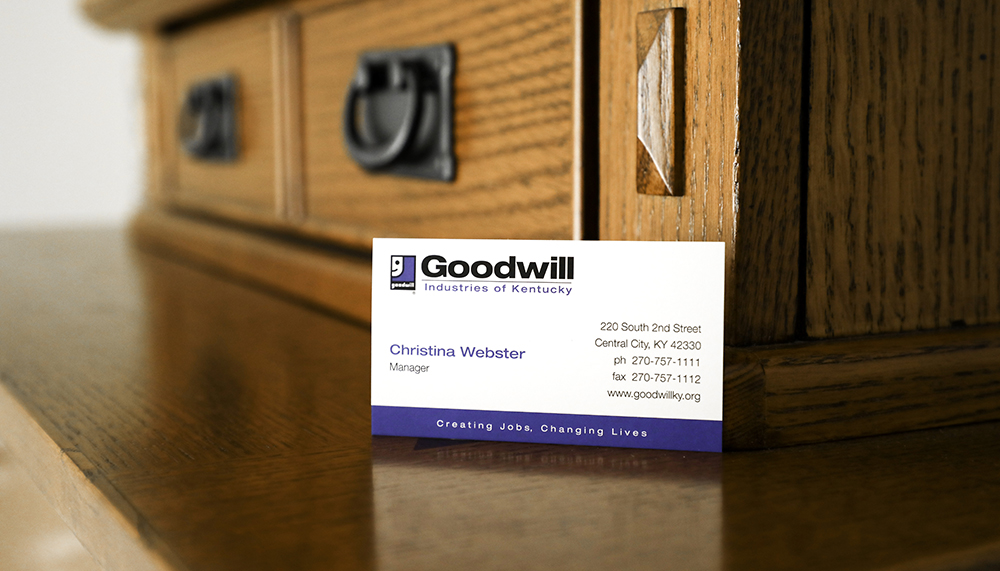Having a simple designed business card can be effective.
