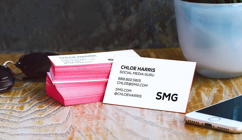 Business cards are an extension of you and your business. Stand out with painted edge business cards.
