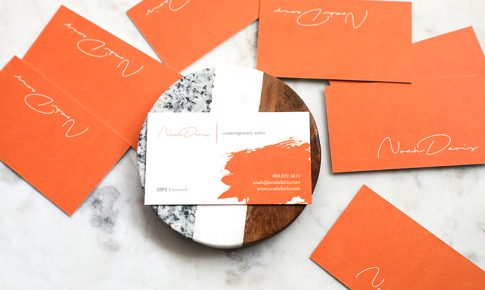 Choosing complimentary colors that are pleasing to the eye can add to the professional appearance of your card.