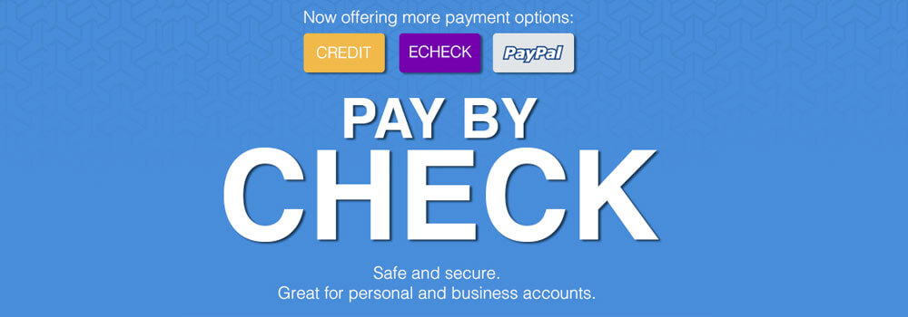 We have made it easier to purchase your printed products. We now offer pay by check option.