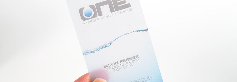 They have a subtle perceived value. Plastic cards feel similar to credit cards, which means that customers will associate your company with a heightened worth when they touch or look at a plastic business card.