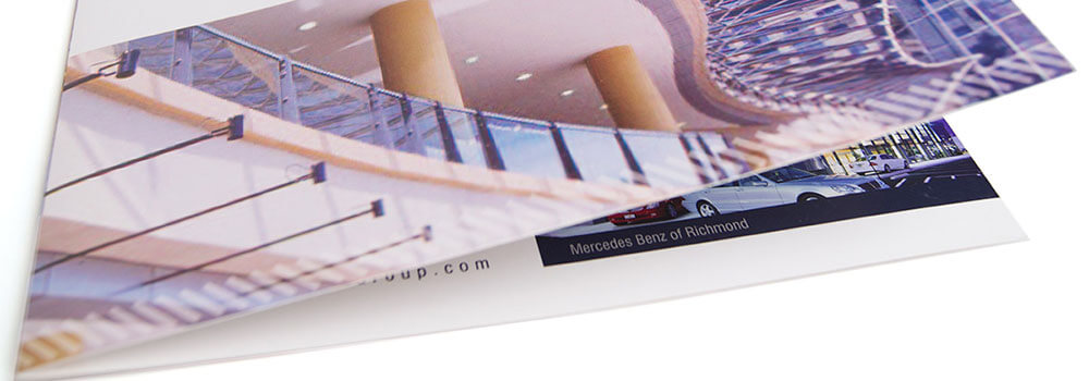 There are plenty of types of brochure folds to choose from. Half fold is one of the more common and the simplest of the folds. The half fold is also known as bi-fold or single fold.