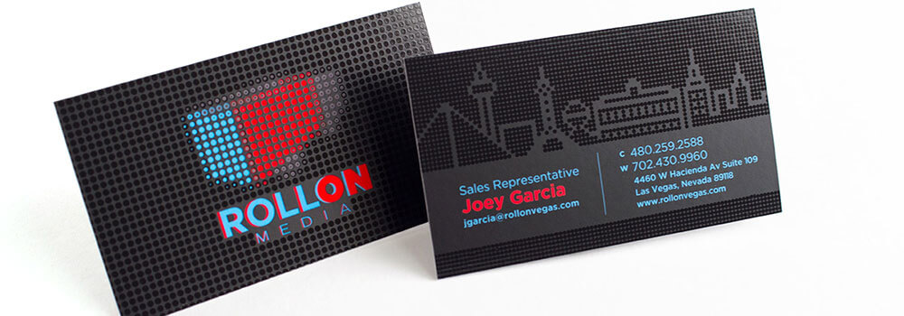 Silk laminated business card with Spot UV printed by Primoprint
