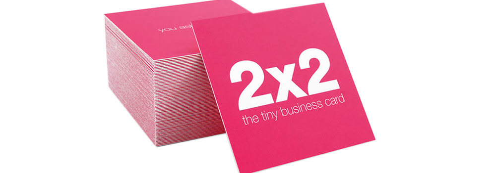 Introducing our square business cards primoprint blog the tiny business card by primo print these business card are sure to grab the colourmoves