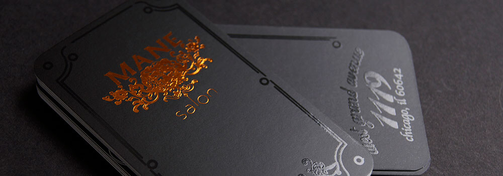 Why not take your business card to the next level by including stamped foil? Stand our with Copper Foil Business Cards.