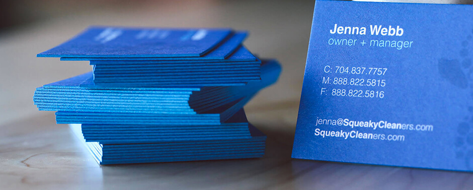 Standout with our Painted Edge Business Cards. Choose from a variety of edge color options.