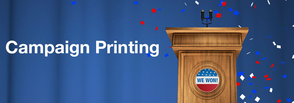 When it comes to marketing a political campaign, Primo Print offers a large selection of printed products to help make any campaign a successful campaign. Pass along your message quickly and easily with these common campaign printing products.