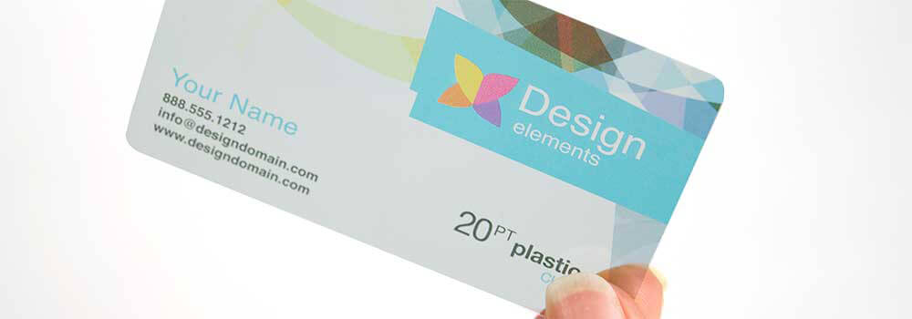 Make a statement with a clear plastic business cards