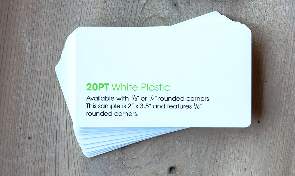 Not sure if plastic business cards are right for you? Check out the options that we offer.