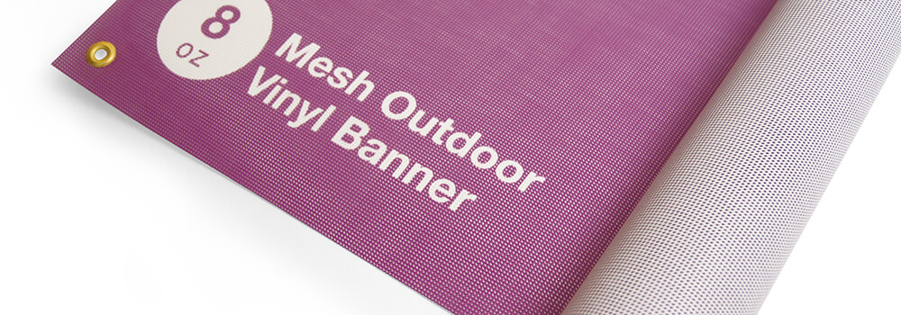 8oz Mesh Outdoor Banner