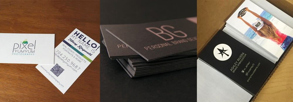 Here are some business cards printed for our customers. We love showing off their work!