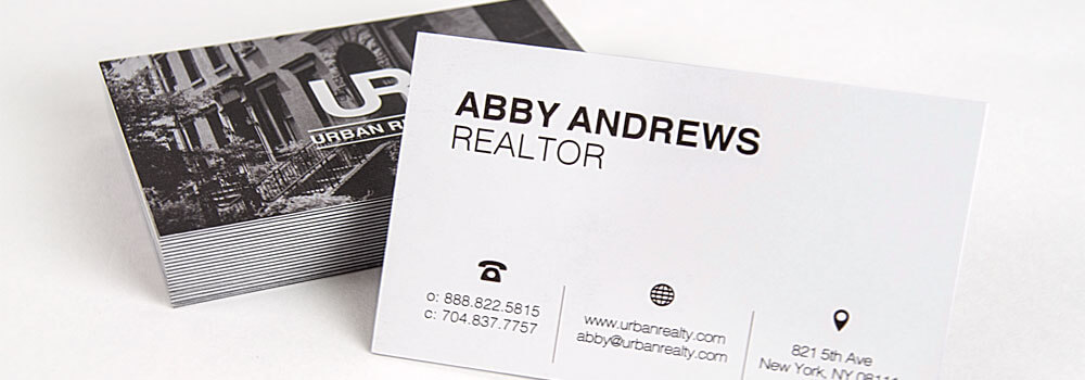 The best business card design tips for 2018 primoprint blog we offer a large selection of business cards and printing options select the right realtor reheart Gallery