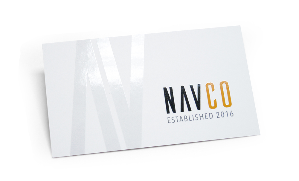Velvet Laminated Business Card with Spot UV