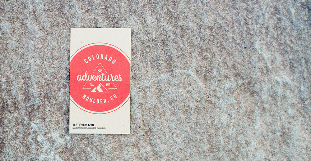 We're excited to announce our latest card stock: Kraft Paper! It's 30% recycled, get your print sample today!