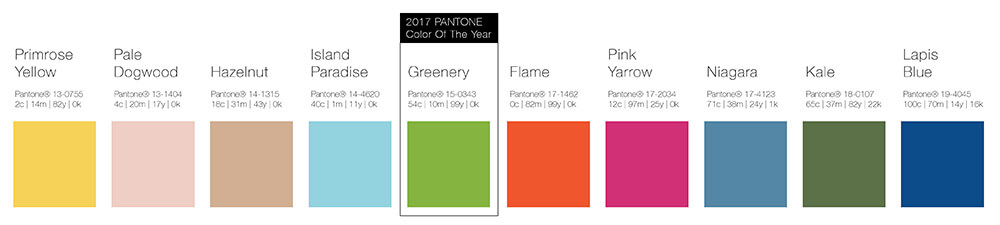 Pantone Swatches Spring Colors