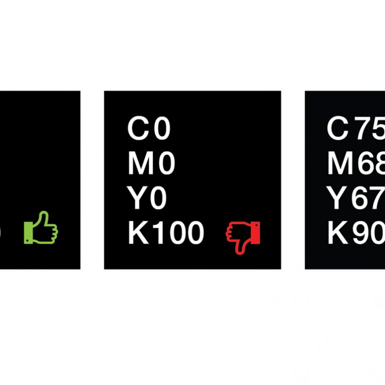 Printing a true or rich black can be tricky, so we're breaking down CMYK configurations for our suggested rich black CMYK build .