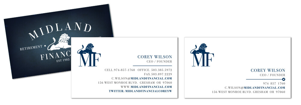 Simplified Business Card Design Comparison