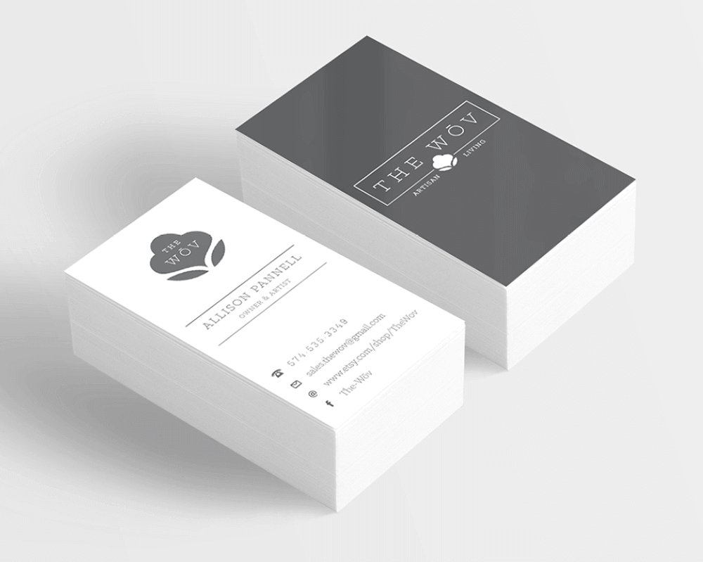 Mitzi Wickersham Designed these beautiful, simple and functional custom business card.