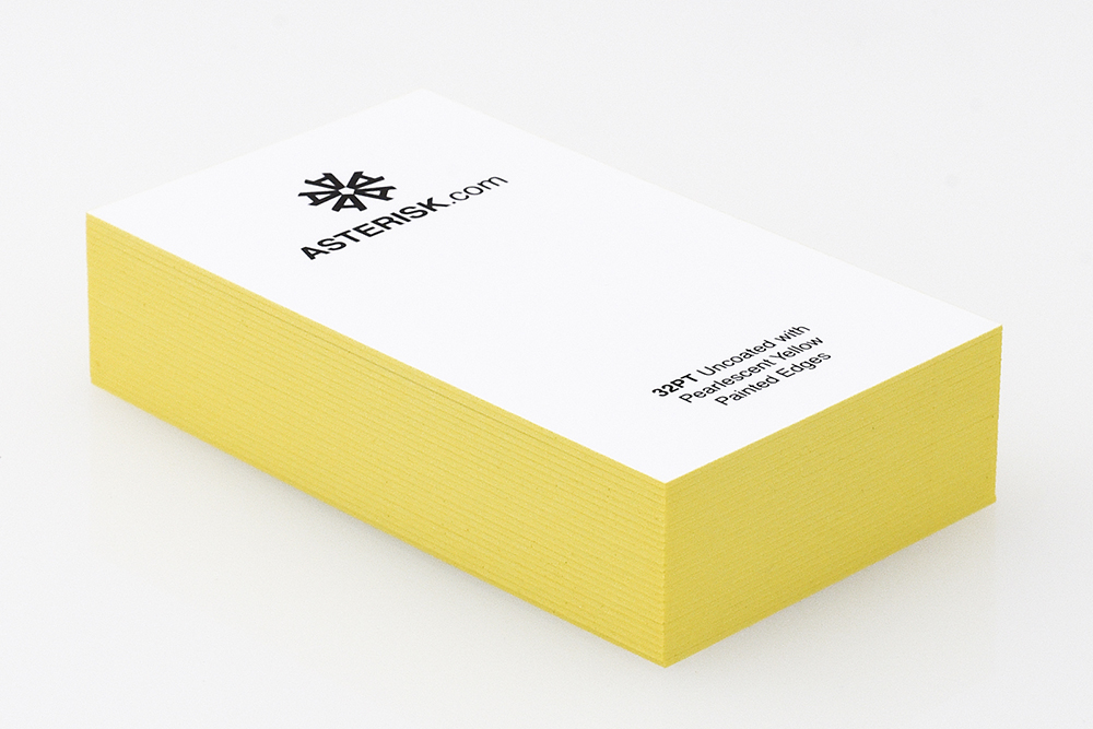 Premium Business Cards with Yellow Painted Edges