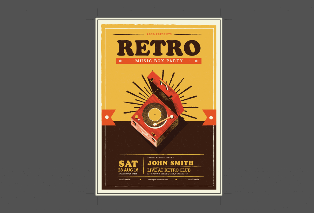 Record Player Flyer Design