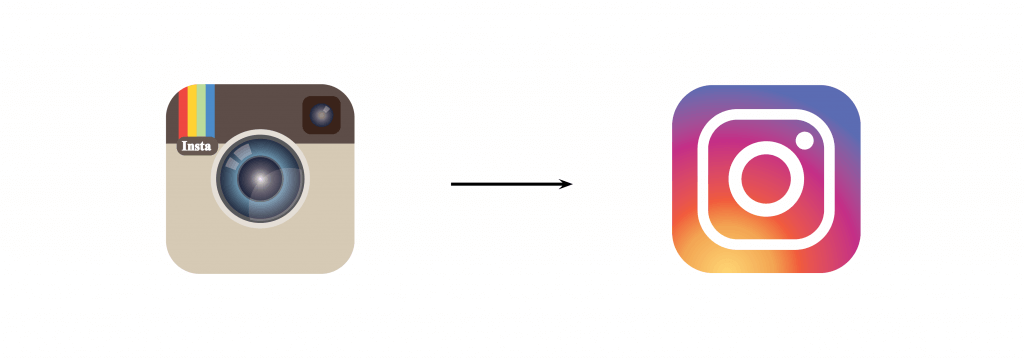 Instagram's Rebranded Icon to include negative space.