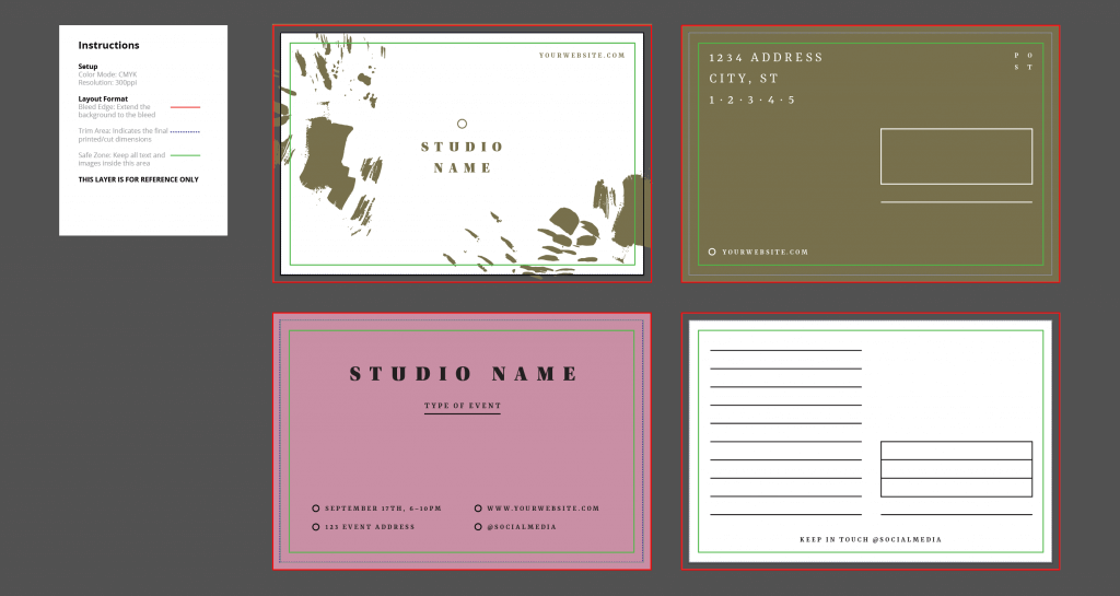 Free Postcard Design Template