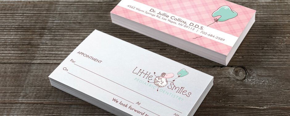Use your dentist business cards as appointment cards.