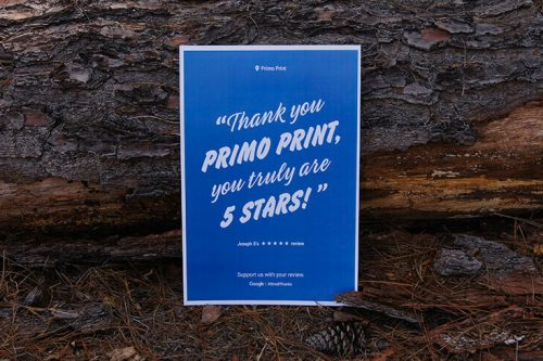 Learn how to print your Small Thanks Google Reviews into Posters