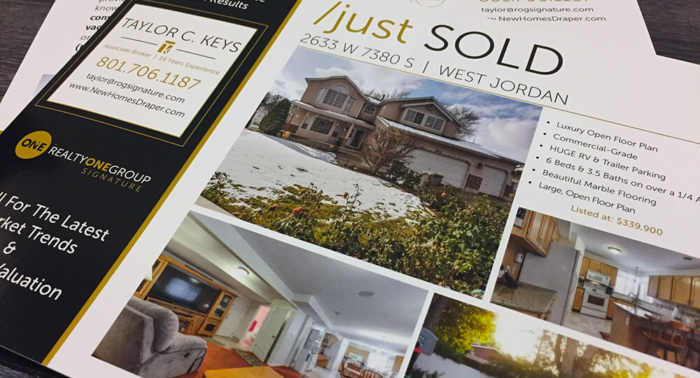 EDDM® postcards for realtors allows them to highlight new and sold properties to potential customers.
