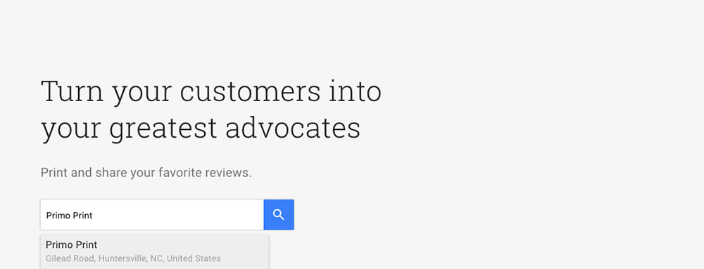 Turn Customers into your greatest advocates with Small Thanks Posters by Google