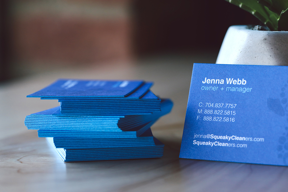 Get noticed with our 32PT thick business cards. Painted edge cards are available with a variety of edge color options.