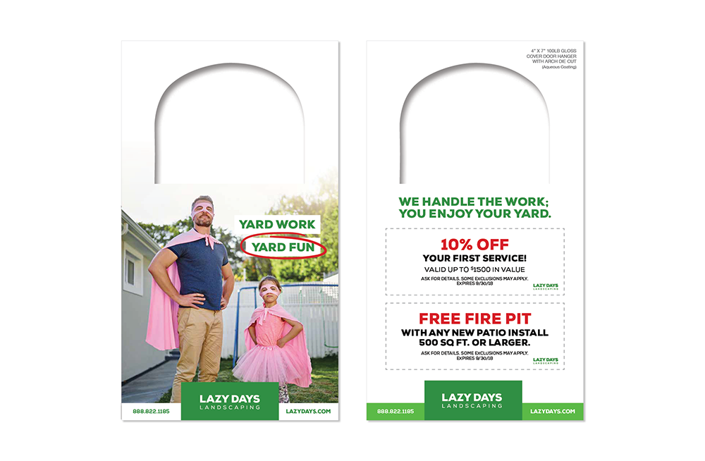 Door hanger marketing is a cost-effective tool to reach new and potential customers. Include a coupon to bring in customers.