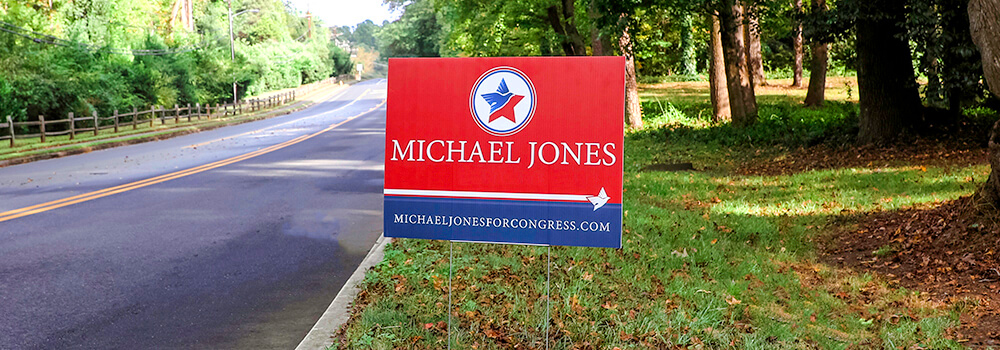 Reach potential voters by printing full color campaign signs.