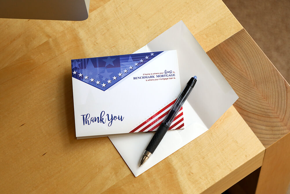 Creating a thoughtful business thank you cards shows you're willing to go that extra mile for those that give you your business.