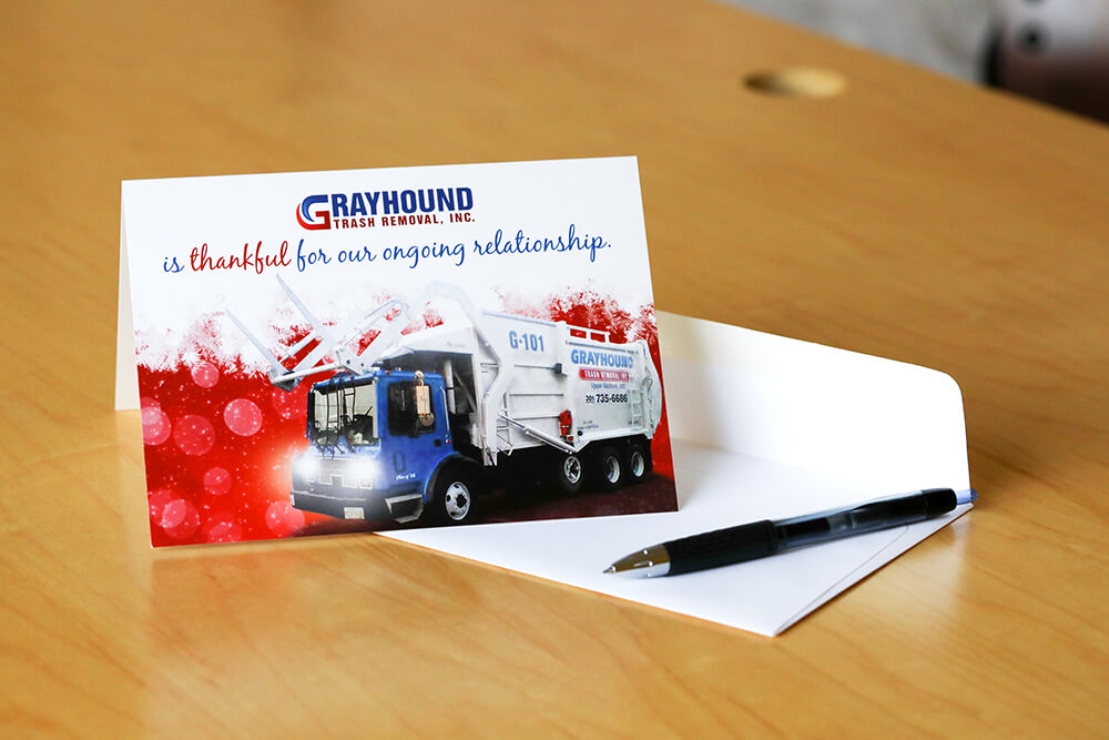 Say thanks to your customers by sending custom thank you cards.