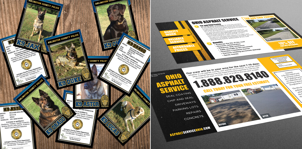 From trading cards to business cards, Kelly has provided custom designs for numerous businesses.