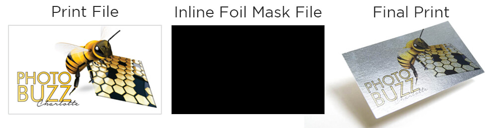 This card wanted the entire front to be foiled. The mask file is completely 100% black.