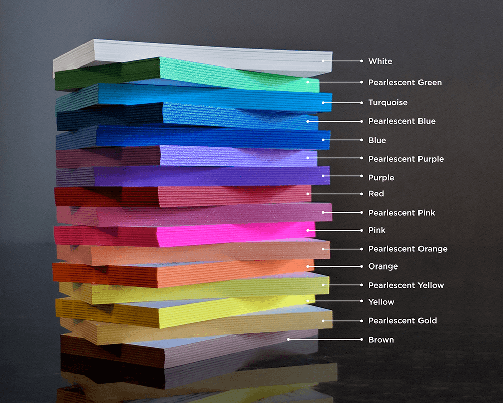 Choose from 15 colors around the edges to make your Business Card stand out!