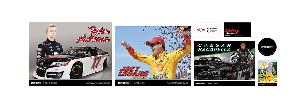Complete our form to receive a free Hero Card sampl epacket including Hero Cards, Trading Cards, Business Cards and Stickers.