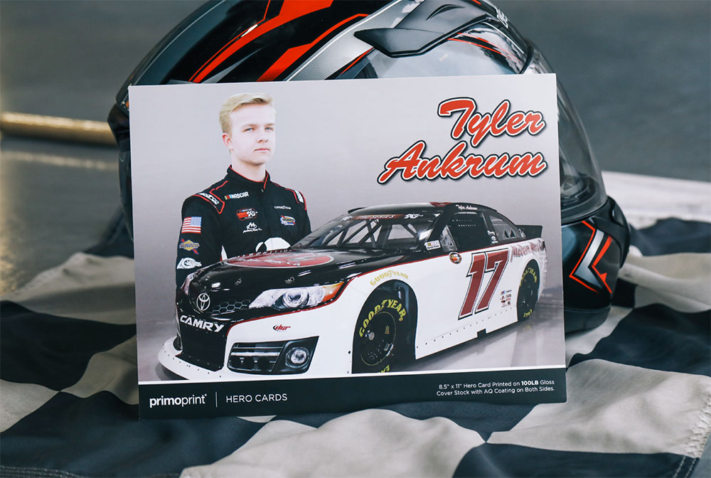 Print your Hero Cards with Primoprint. Also called driver cards or autograph cards, are oversized postcards that promote racing drivers, teams and their sponsors.
