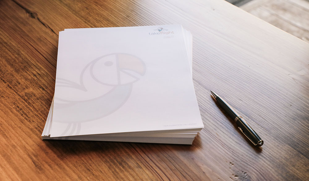 Printed stationery and business letterhead is a great customer service tool for every business because it conveys an image of strength and longevity.