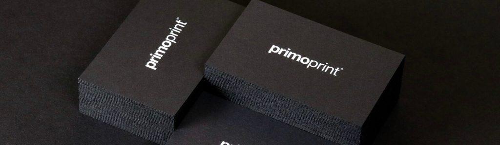 New Primoprint Black Edge Cards! Printed on black card stock with black edges.