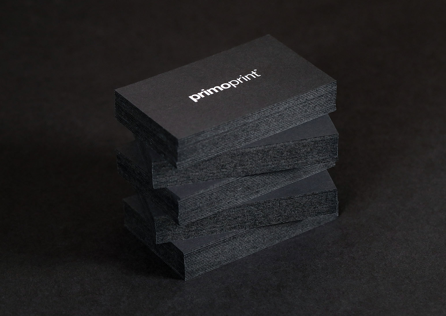 New Black Edge Cards Printed by Primoprint.
