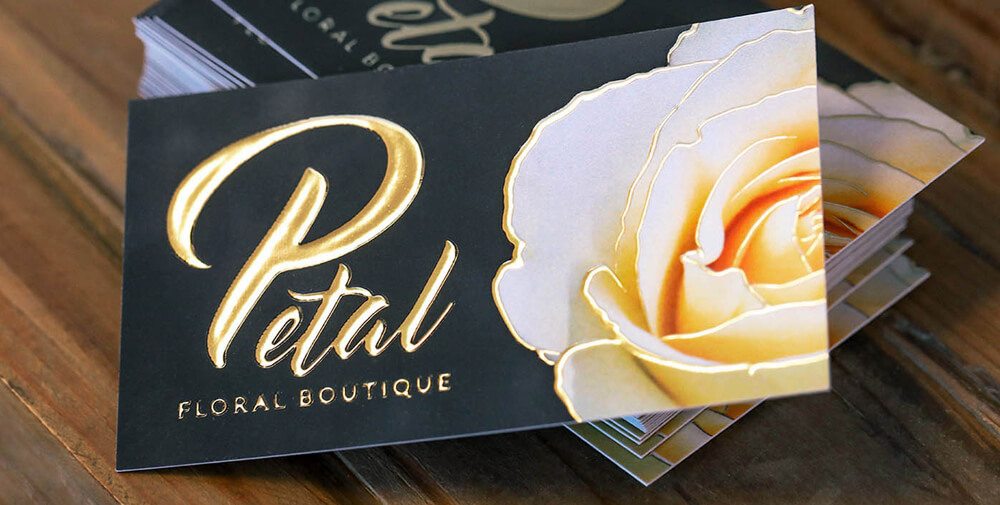 Don't leave your marketing to chance; stand out by using unique finishes like raised foil business cards.