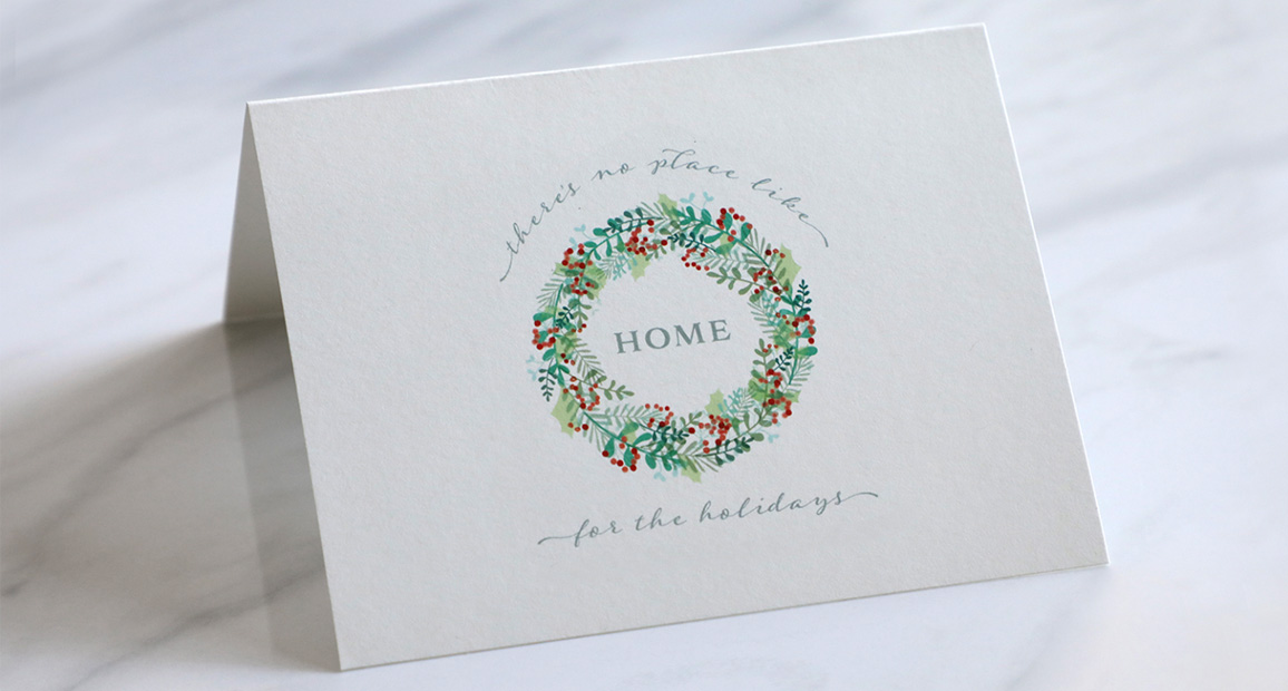 Show your appreciation to your customers and clients with holiday cards.