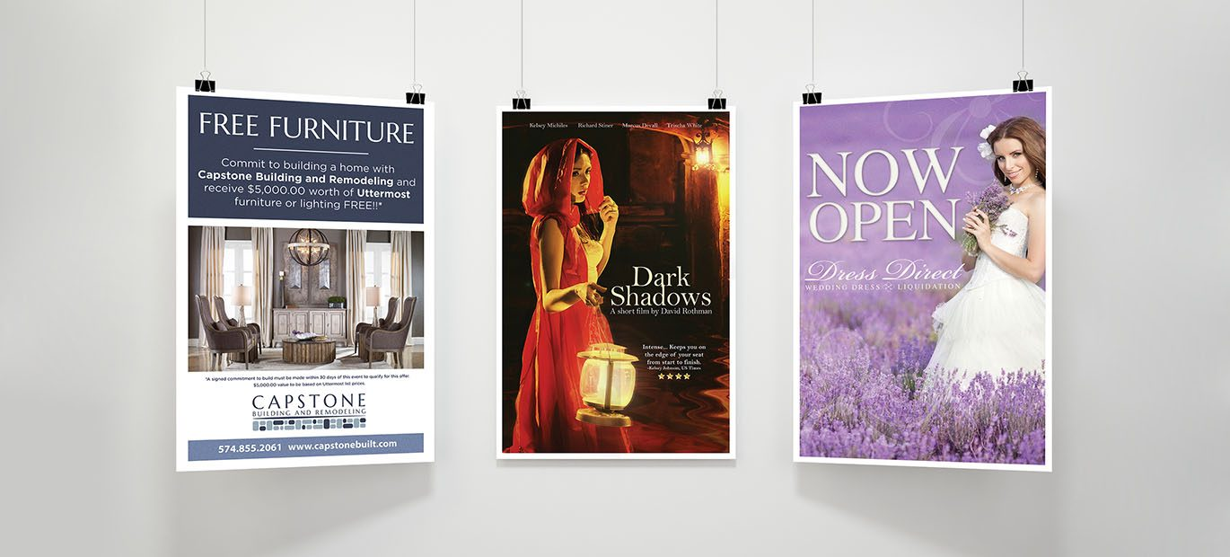 With a low price of $1.00 per print, you can profit from the benefits of posters.