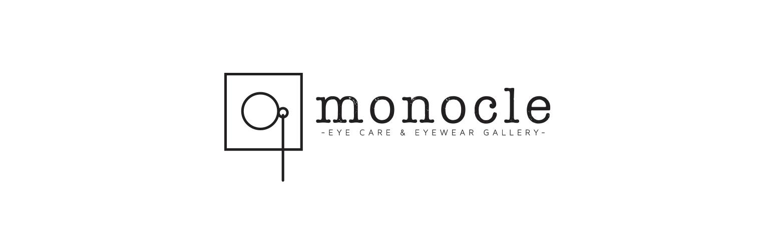The finale version of the custom business logo for Monocle Eye Care & Eyewear Gallery.