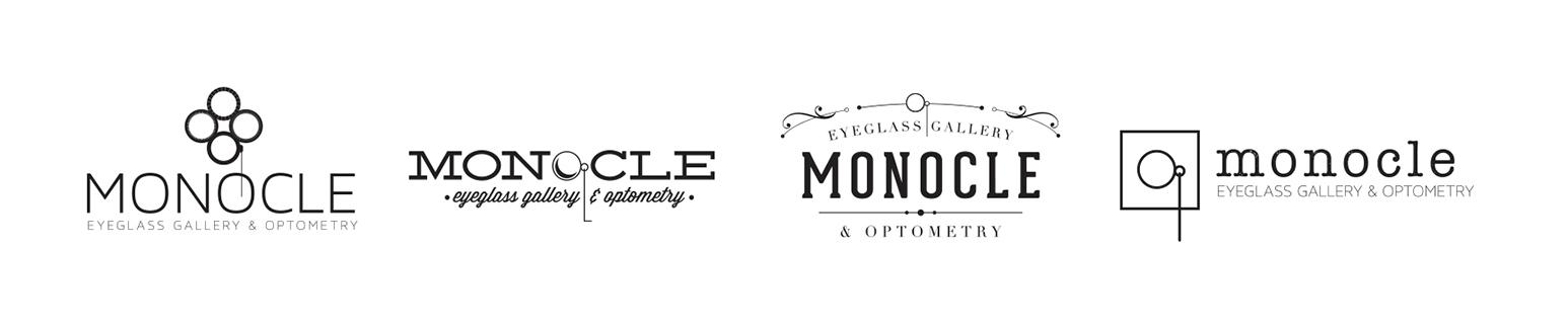 Custom logo options for Monocle Eye Care & Eyewear Gallery