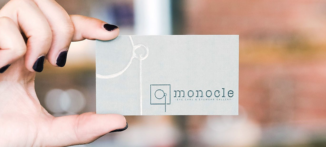 Take a look at our Custom Logo Design for Monocle Eye Care and Eyewear Gallery